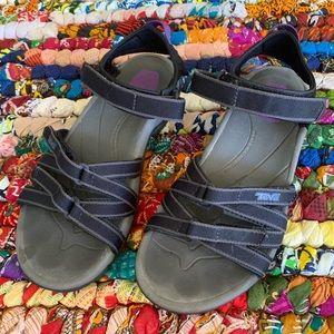 Teva Black and Black Strappy Hikinig Sandals